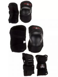 Protectii Skate Triple 8 143 Pack Protection Set Youth Black