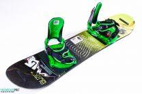 Placa Snowboard Copii Burton LTR 100 + Legaturi Snowboard Burton Progression Low Stack Green XS