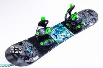 Placa Snowboard Copii Burton Chopper 2018 120 + Legaturi Snowboard SP Kiddo Green XS