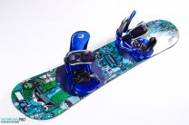 Placa Snowboard Copii Burton Chopper 2019 125 + Legaturi Snowboard Burton Progression Low Stack Blue SM