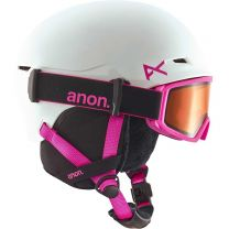 Casca Ski Snowboard Anon Define Youth White Pink L/XL