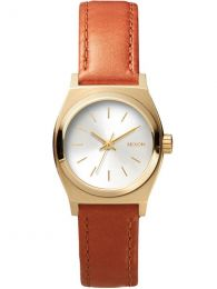 Ceas Nixon Small Time Teller Leather gold