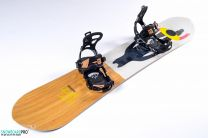 Snowboard Salomon Sickstick 163 + Snowboard Bindings SP Brotherhood Black 18/19 L