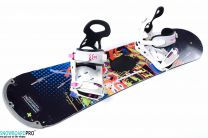 Placa Snowboard Copii Stuf Element Jr 125 + Snowboard Bindings Drake Queen S