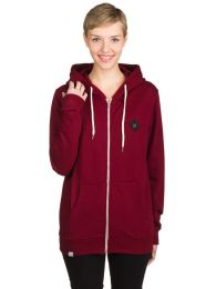 Hanorac B/T Zip Hoodie Red Bordeaux S
