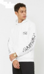 Hanorac Swallows & Daggers Pitbull Hoodie White L
